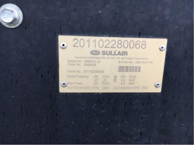 Detail photo of 2011 Sullair 185 from Construction Equipment Guide