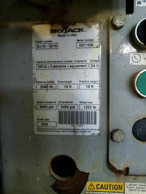 Detail photo of 2008 Skyjack SJIII 3219 from Construction Equipment Guide