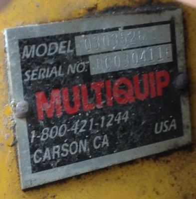 Detail photo of 2006 Multiquip Q303526 from Construction Equipment Guide