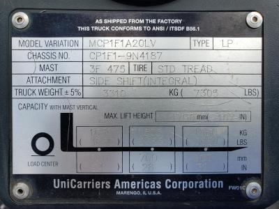 2015 Nissan UniCarriers MCP1F1A20 (CFS40)