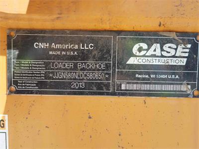 Case 580N 2013